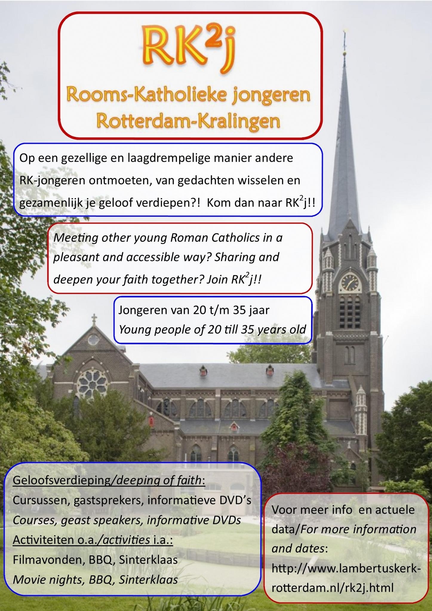Aanstaande zondag 21 mei jongerengroep rk2j for Lantaren venster rotterdam agenda